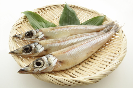 Dried Fish, Sand Borer on colander