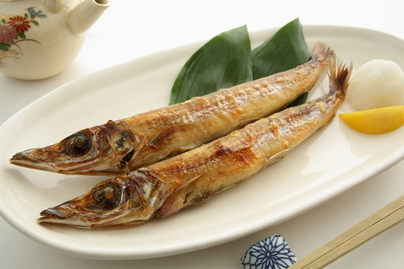 Grilled Dried Fish, Japanese Food