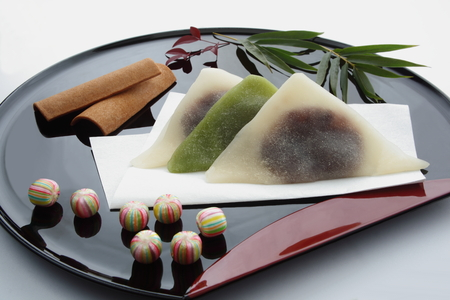 Japanese Kyoto Sweets Souvenir on Lacquered Tray