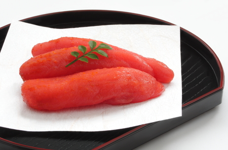 Spicy Cod Roe, Japanese Food Stock Photo