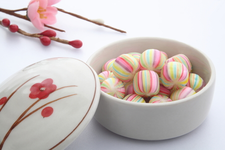 ボールの形をしたお菓子、和食