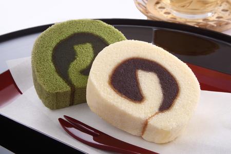 豆ペースト スポンジ ケーキ、和菓子