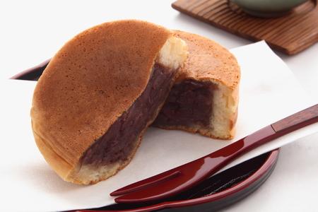 Ronde-vormige Cake Met Rode Bonenpasta, Japanse Snoepjes