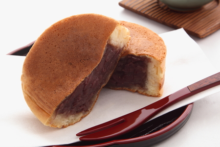 Round-shaped Cake Containing Red Bean Paste, Japanese Sweets