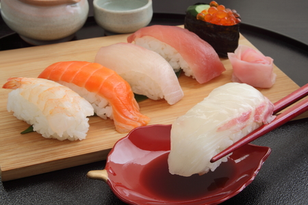 混合酒、寿司盛り和食