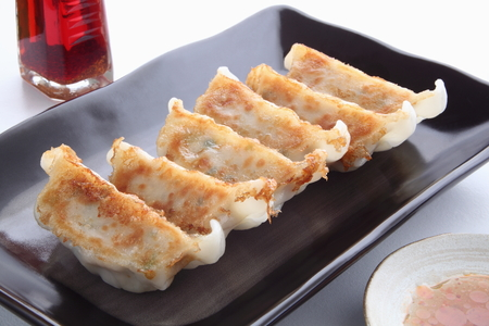potherb: Pot Stickers with Dumpling Sauce and Chili Oil