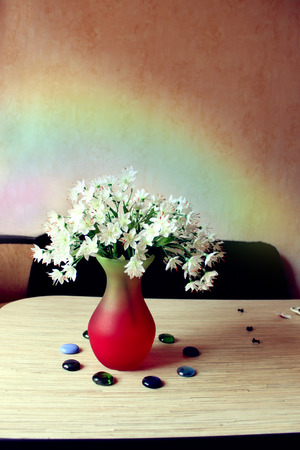 alstroemeria: a bouquet of flowers Alstroemeria and rainbow