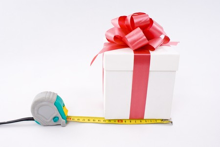 Gift box and measure tape photo