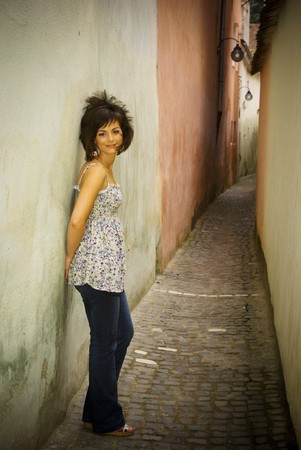 Young beautiful girl standing Stock Photo - 12266931