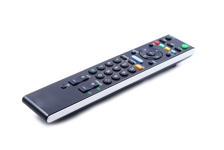 black remote control and white background  photo