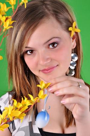 Young beautiful girl - Easter  photo