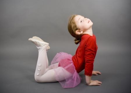 little girl in a red elegant dress Stock Photo - 16305501