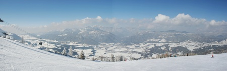 craggy: Panorama, Winter snow on the craggy mountains