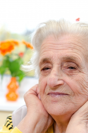 Happy old gray-haired woman Stock Photo - 16306303