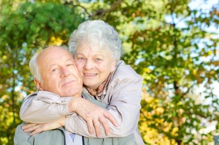 older couple: Beautiful senior couple