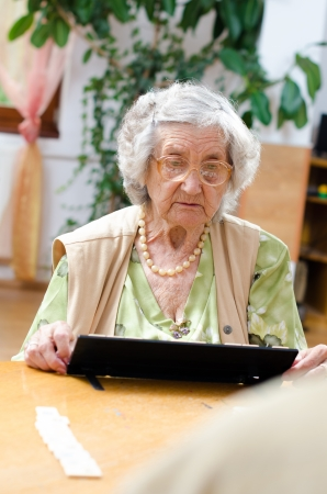rummy: Senior people playing rummy Stock Photo