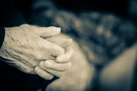 Seniors hands  Stock Photo