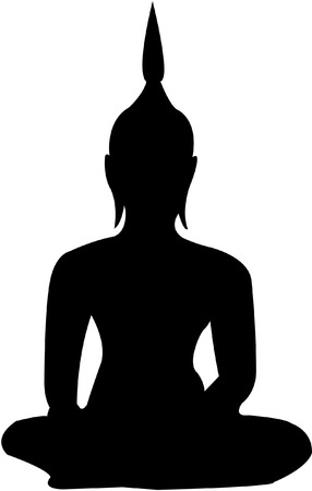 Buddha shadow Stock Vector - 8769312