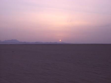 Sunset in the Egyptian desert