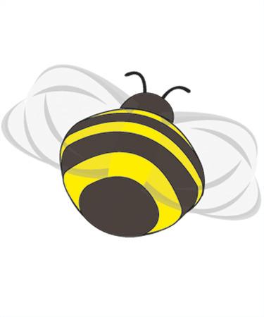 flying bumble-bee - backside Stock Vector - 8834125