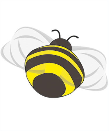 flying bumble-bee - backside Illustration