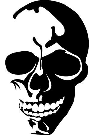 smiling cranium; death´s head Illustration
