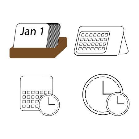 Modern design element. Vector calendar clock.