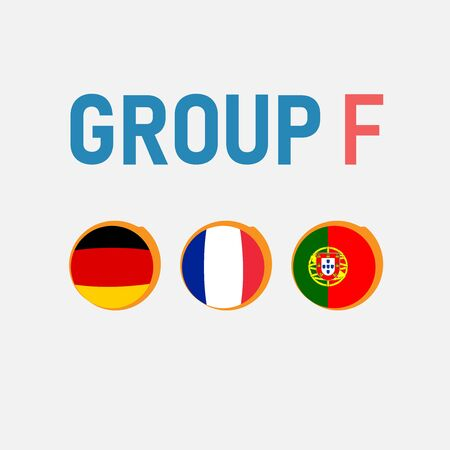 Group stages of the European football championship. Banco de Imagens - 135703465