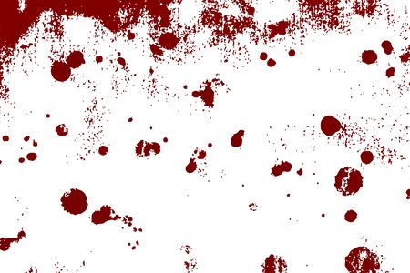Drops of blood or other fluid on a white background. Abstract raindrops. Bright colored circles. Vector eps illustration. Ilustração