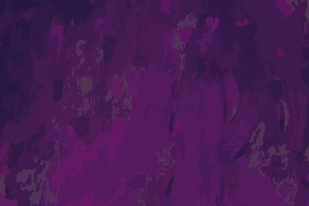 Abstract multicolored image, made with a brush and paints. You can use it as an interesting background or on your banner. Handmade violet and pink colour. Eps vector illustration.
