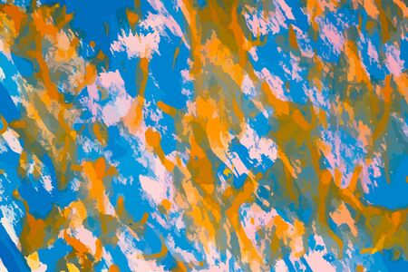 Abstract multicolored image, made with a brush and paints. You can use it as an interesting background or on your banner. Handmade blue and white colour.Eps vector illustration.