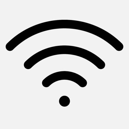 The wireless signal icon. Modern modem internet icon. Ilustración de vector