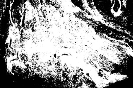 Abstract black white image with long and short intermittent lines made by brush. A monochrome image drawn by hand. Dirty shabby smears of black paint. Vektoros illusztráció
