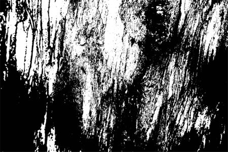 Abstract black white image with long and short intermittent liquid lines made by brush. A monochrome image drawn by hand. Dirty shabby smears of black paint. Vector eps illustration. Vektoros illusztráció