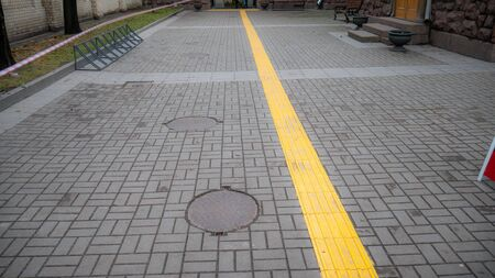 A special track for the blind, allows you to navigate in space. The path to the museum.