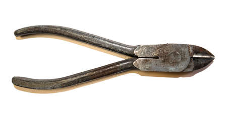 Pliers and cutters on a white background. Isolated tools for construction and repair. Stock Photo