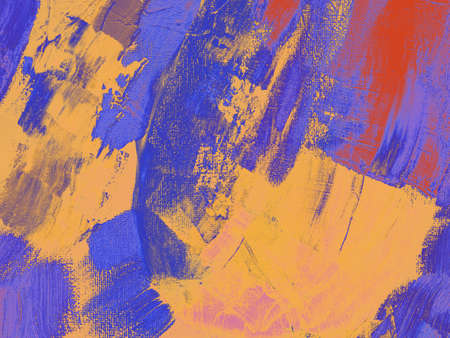 Abstract multicolored image, made with a brush and paints. Handmade. You can use it as an interesting textured background illustration.