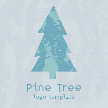 The pine tree logotype. Great logo for your company, you can use on a banner or sign. Lonely tree. Vector eps illustration.