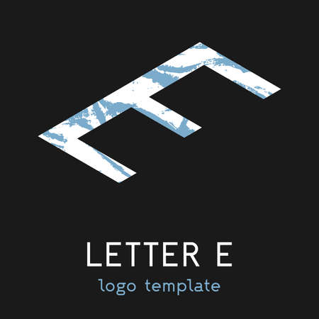 The template using the letter E. Simple modern in isometry. Vector eps illustration.