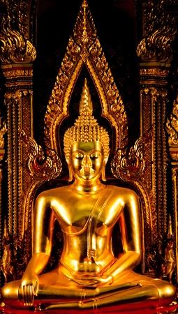 godhead: golden buddha statue
