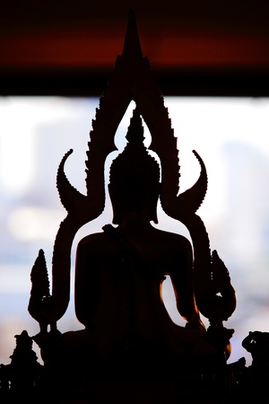godhead: silhouette buddha statue