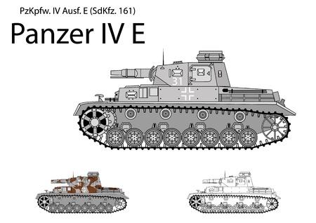 iv: German WW2 Panzer IV E with short 75 mm L24 gun