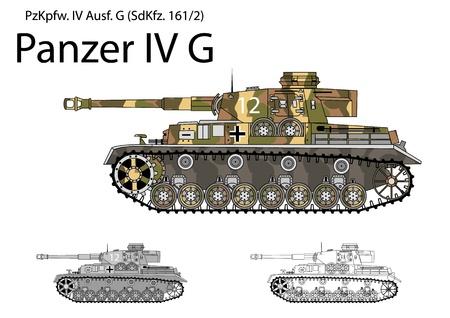 world war two: German WW2 Panzer IV G with long 75 mm L48 gun