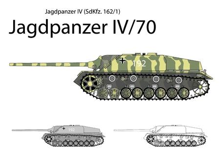 German WW2 Jagdpanzer IV with long 75 mm gun  Illustration