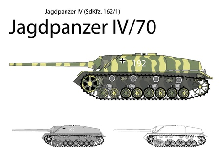 70 75: German WW2 Jagdpanzer IV with long 75 mm gun  Illustration