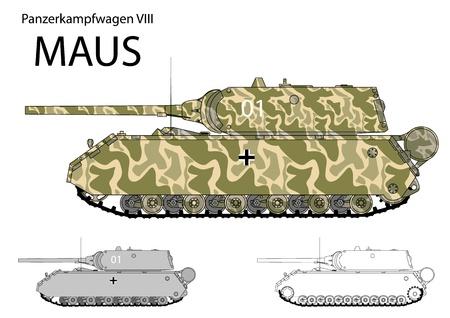 ww2: German WW2 Maus super heavy prototype tank