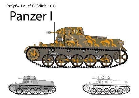 German WW2 Panzer I B light tank