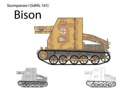howitzer: German WW2 Bison self propelled gun