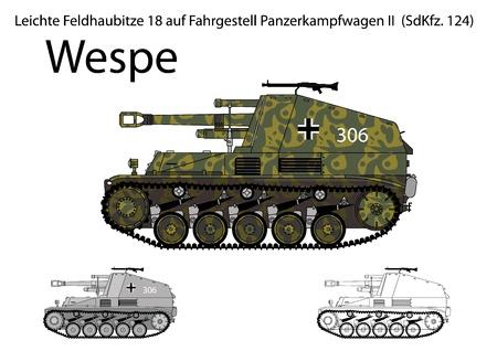 propelled: WW2 German Wespe self propelled artillery