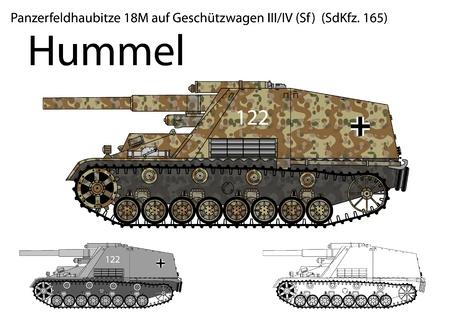 WW2 German Hummel self propelled artillery